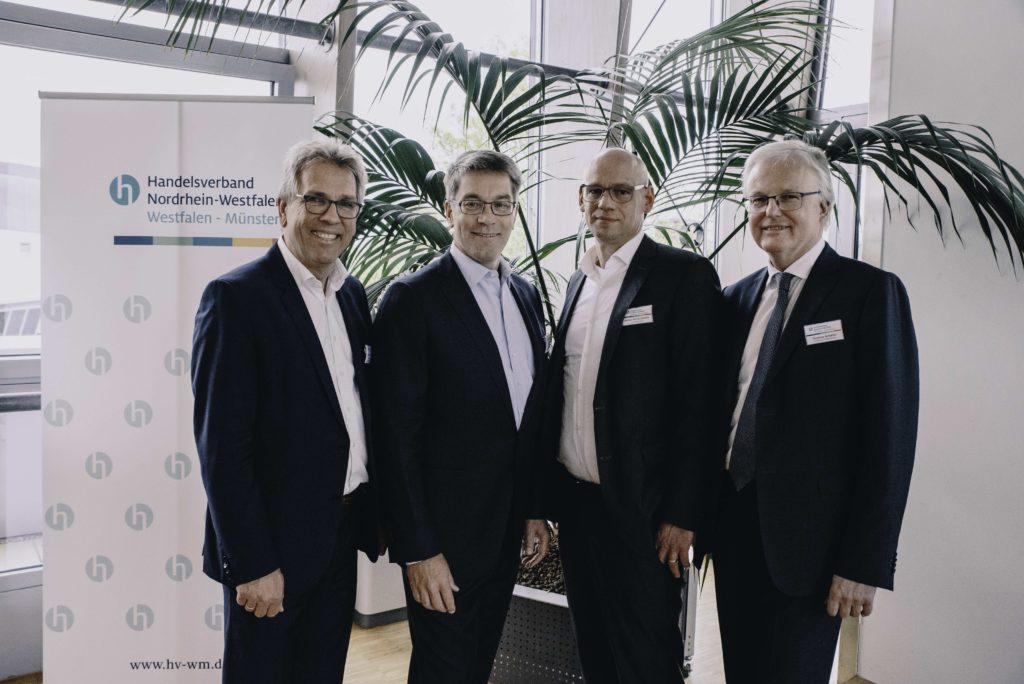 Michael Radau, Alexander Birken, Stefan Grubendorfer und Thomas Schäfer beim Handel im gespräch 2019